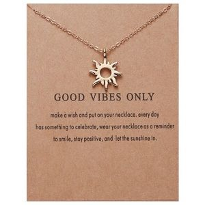 ☀️RESTOCKED Good Vibes Only Sun Necklace With Card